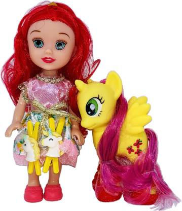 Arock Small Size Little Pony & Princess Size Tiny Doll Set For Girls , Pocket Size Dolls & Its Easy To Carry While Travelling every day Use Dolls For Girls