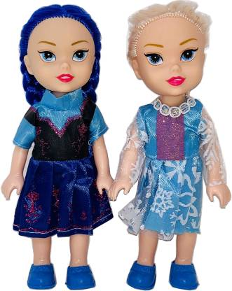 Arock Set Of 2 Small Tiny Sized Pocket Doll Set , Easy To Carry Small Size Doll Set For Girls