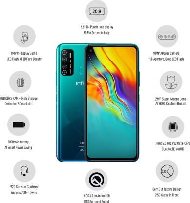 Infinix Hot 9 Pro (Ocean Wave, 64 GB)