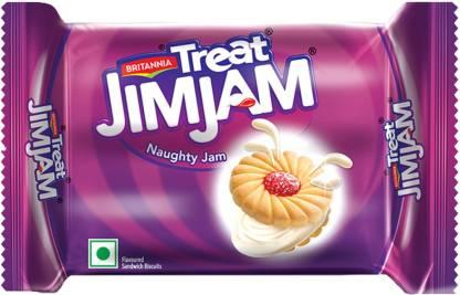 BRITANNIA Treat Jim Jam Cream Sandwich