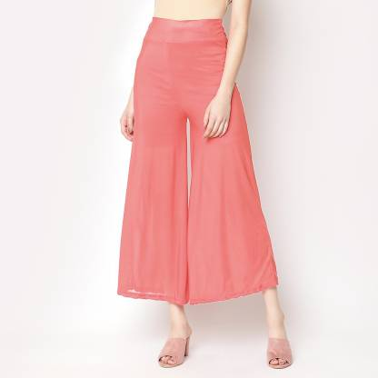 V2 Retail Limited Regular Fit Women Pink Trousers