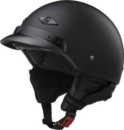 LS2 Helmets Unisex-Adult Half-Size-Helmet-Style Bagger Helmet (Matt Black, X-Small) [ Motorbike Helmet