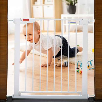 FISHER-PRICE Barricade Baby Security Gate - 74 - 84 cms. width Safety Gate(White)