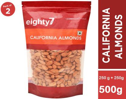 Eighty7 California Almonds(250g each) - Pack of 2 Almonds