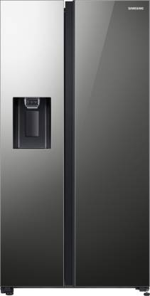 Samsung 676 L Frost Free Side by Side (2020) Refrigerator(Mirror Black, RS74R53012A/TL)