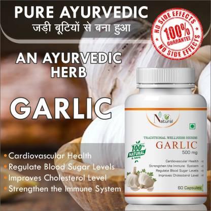 Natural garlic capsule for hair