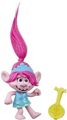 Trolls World Tour Movie inspired Poppy, Collectible Doll with Ukulele Accessory, Toy Figure