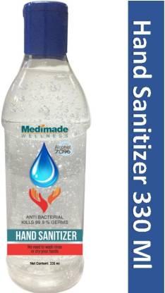 Medimade  330 ML -Pack of 3 (70% Alcohol FDA Approved) Hand Sanitizer Bottle