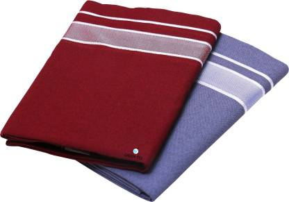 GREEN TEE Solid Maroon, Grey Lungi