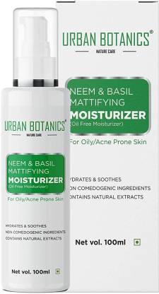 UrbanBotanics Neem & Basil Mattifying Moisturizer - Oil Free Moisturizer For Face - For Oily & Acne Prone Skin