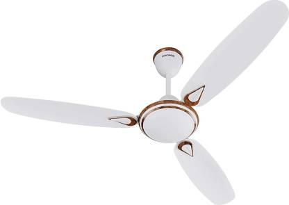 Anchor By Panasonic 13997MWM Ceiling Fan Luxoria DLX Without Regulator - 1200mm - Matt White Mahogany (Speed- 400 RPM) 1200 mm 3 Blade Ceiling Fan