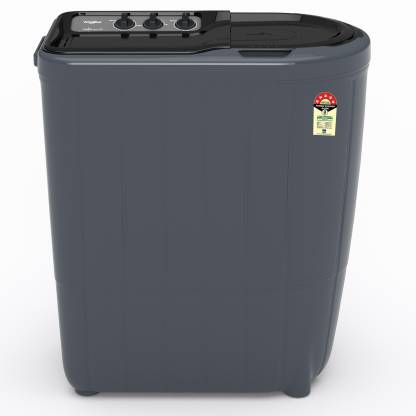 Whirlpool 6 kg 5 Star,Turbo Scrub Technology Semi Automatic Top Load Grey