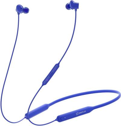 OnePlus Bullets Wireless Z Bluetooth Headset  (Blue, Wireless in the ear)