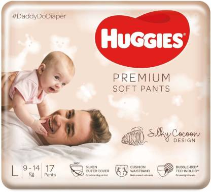 Huggies Premium Soft Pants 360� softness with Bubble Bed Technology - L