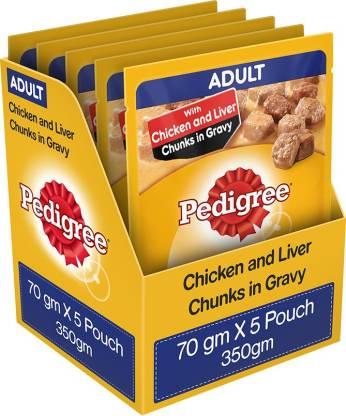 PEDIGREE Gravy Chicken, Liver 0.35 kg (5x0.07 kg) Wet Adult Dog Food