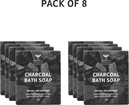 BOMBAY SHAVING COMPANY Activated Bamboo Charcoal Bath Soap (Pack of 8)