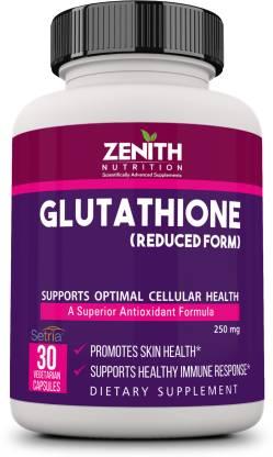 Zenith Nutrition Nutrition Glutathione 250mg 30 Nos Lab tested