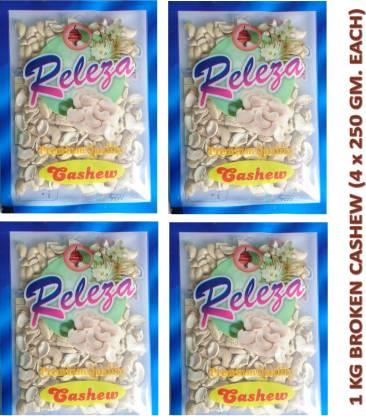 Releza Cashew Nut Broken 1 Kg. (1000 gm) 4 piece / LWP, Raw Cashew Nut & Dry Fruits ( Kaju Tukda ) Cashews