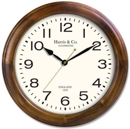 Harris & Co. Clockmasters Analog 35 cm X 35 cm Wall Clock