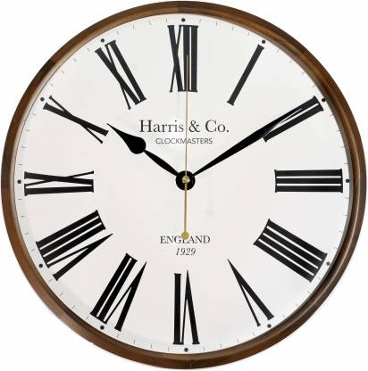 Harris & Co. Clockmasters Analog 33 cm X 33 cm Wall Clock