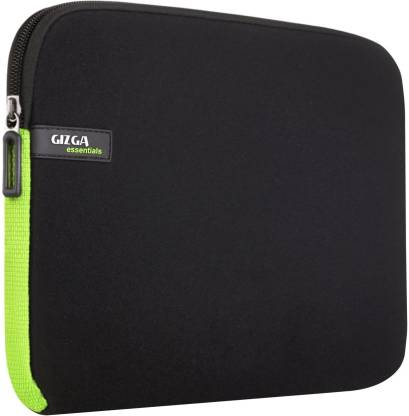 Gizga Essentials GE-15-GRY-GRN Laptop Sleeve/Cover