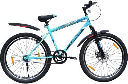 LEADER SCOUT 26T FRONT SUSPENSION FRONT DISC 26 T Mountain Cycle Single Speed, Blue, Black