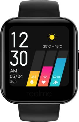 Realme Watch  (Black Strap, Regular)