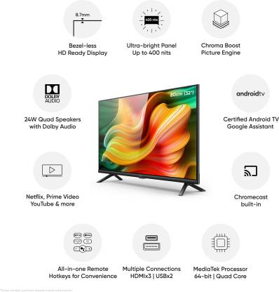 realme 80 cm (32 inch) HD Ready LED Smart Android TV