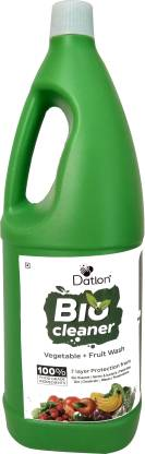 Datlon Bio Cleaner Vegetable + Fruit Wash Liquid   7 Layer Protection From Bio Hazard, Germs & Bacteria, Pesticides, Dirt, Chemicals, Waxes, Preservatives   100% Food Grade Ingredients   1 Ltr