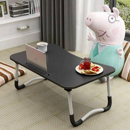 Flipkart Perfect Homes Studio Wood Portable Laptop Table(Finish Color – Walnut Black)