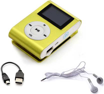 BAGATELLE High Quality Mini Rechargeable MP3 Player Portable music player  with Data Cable & Earphone TF/