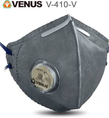 Venus V-410-V ISI Approved Anti Pollution Mask with Valve | Pack of 1 Reusable, Washable