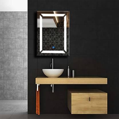 Himans Ar11 Led Wall Mirror With Sensor Bathroom Mirror Price In India Buy Himans Ar11 Led Wall Mirror With Sensor Bathroom Mirror Online At Flipkart Com