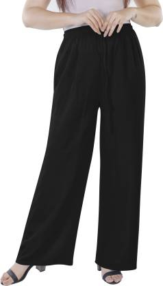 KURTI WORLD Relaxed Women Black Trousers