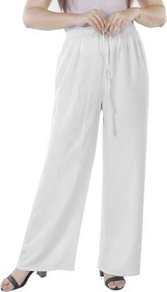 KURTI WORLD Relaxed Women White Trousers