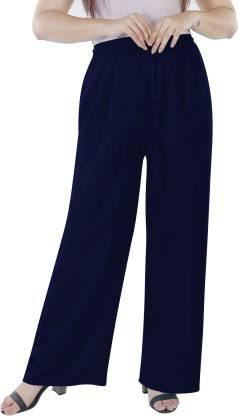 KURTI WORLD Relaxed Women Dark Blue Trousers