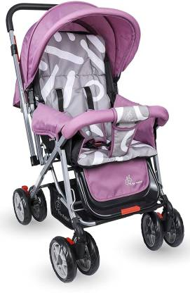 R for Rabbit Lollipop Lite Colorful Baby Stroller and Pram for Baby|Kids|Infants|New Born|Boys|Girls of 0 to 3 Years (Purple Grey) Stroller