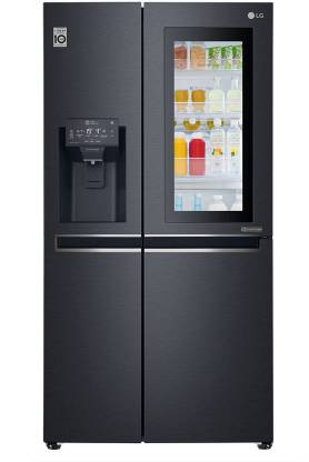 LG 668 L Frost Free Side by Side Refrigerator  with with Instaview and Smart ThinQ(WiFi Enabled)