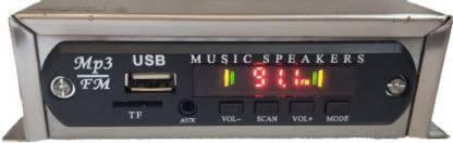 SMJEET Dancing Led Car Stereo USB, MP3, SD-MMC, AUX Car Stereo