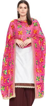 Weavers Villa Chiffon Embroidered Women Dupatta