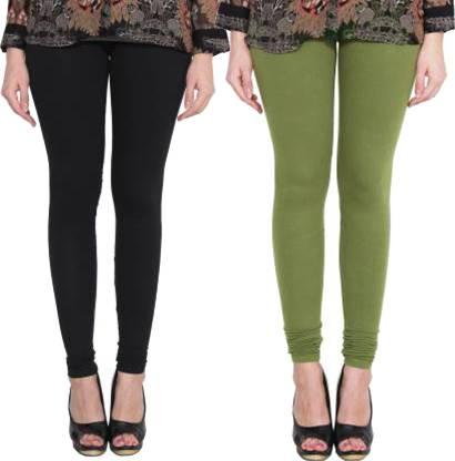 Clarita Churidar Legging(Green, Black, Solid)