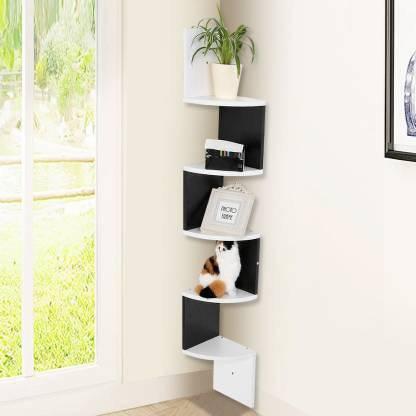 Corner Rack Shelf, Living Room Corner Shelf