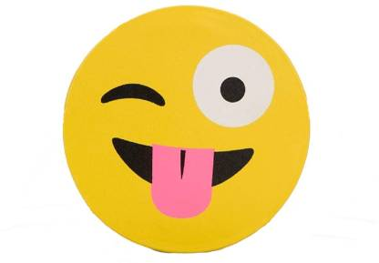 Supreme Home Collective Microfibre Smiley Cushion Pack of 1