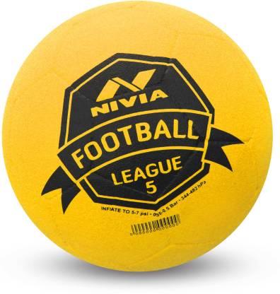 Nivia LEAGUE MOULDED Football   Size: 5 Pack of 1, Yellow  Nivia Footballs
