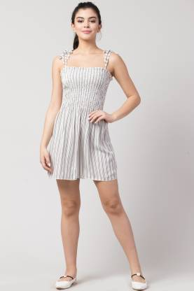 Women A-line White Dress