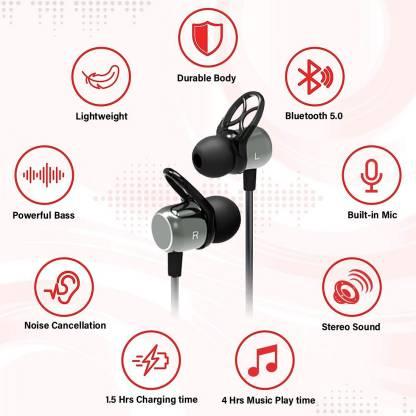PTron Avento Plus Magnetic Wireless Bluetooth Headset