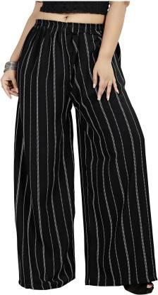 Hinayat Fashion Relaxed Women Black Trousers