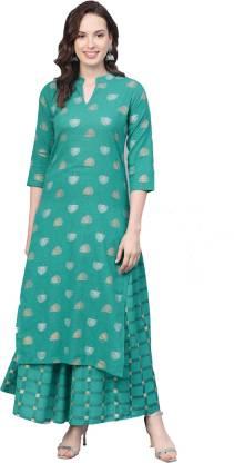 Meera Fab Women Kurta and Skirt Set