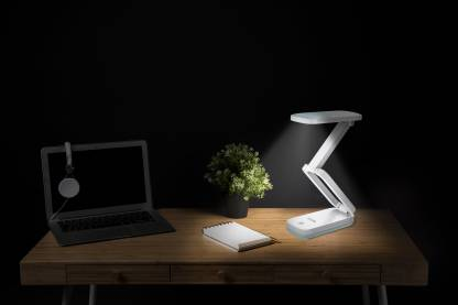 Ecolink by Philips 581870 3W EcoLink FLEX Rechargeable LED Desk Light (White) Table Lamp
