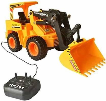 Smartcraft Remote Control JCB Toy, Multi Color, Wired Remote Control JCB ( Battery Included)
